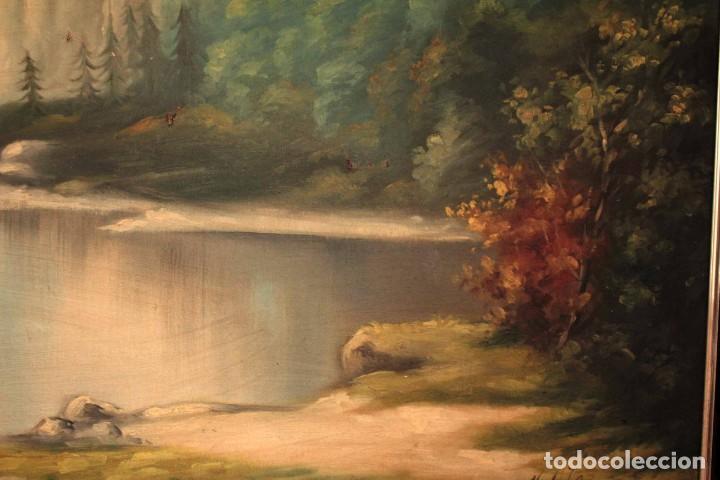 Arte: Gran paisaje pintado al oleo sobre lienzo. Firmado Verdú. Pintor Valenciano. Con marco 139x79cm - Foto 4 - 270143538