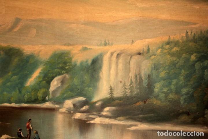 Arte: Gran paisaje pintado al oleo sobre lienzo. Firmado Verdú. Pintor Valenciano. Con marco 139x79cm - Foto 5 - 270143538