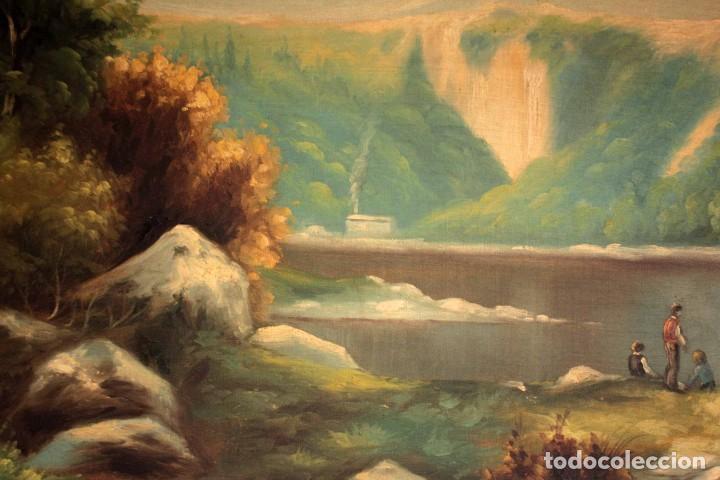 Arte: Gran paisaje pintado al oleo sobre lienzo. Firmado Verdú. Pintor Valenciano. Con marco 139x79cm - Foto 6 - 270143538