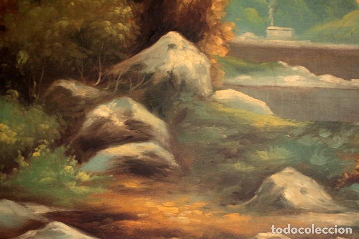 Arte: Gran paisaje pintado al oleo sobre lienzo. Firmado Verdú. Pintor Valenciano. Con marco 139x79cm - Foto 7 - 270143538