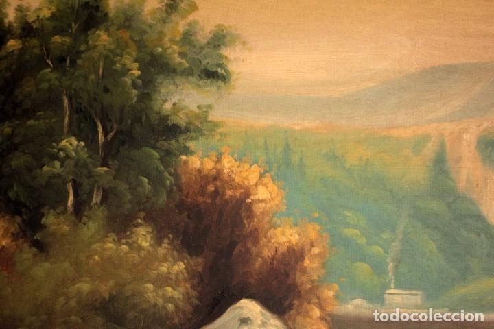 Arte: Gran paisaje pintado al oleo sobre lienzo. Firmado Verdú. Pintor Valenciano. Con marco 139x79cm - Foto 8 - 270143538