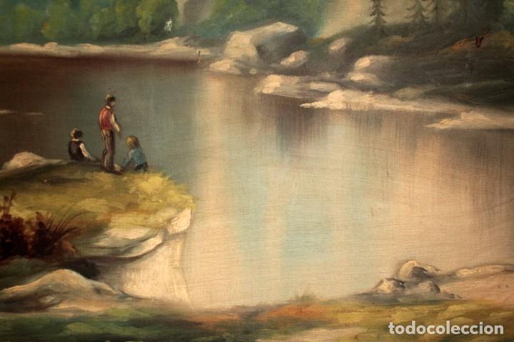 Arte: Gran paisaje pintado al oleo sobre lienzo. Firmado Verdú. Pintor Valenciano. Con marco 139x79cm - Foto 9 - 270143538