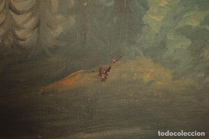 Arte: Gran paisaje pintado al oleo sobre lienzo. Firmado Verdú. Pintor Valenciano. Con marco 139x79cm - Foto 11 - 270143538