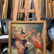 Arte: MAGNIFICA IMPOSICION CASULLA S. ILDEFONSO, S. XVIII. Lote 270367693