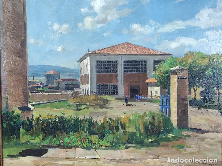 Arte: Óleo sobre Tela - Ramón Barnadas (Olot 1909 - Girona 1981) - Fabrica Hi.Vi.Sa, Vic - Año 1950 - Foto 3 - 270516318