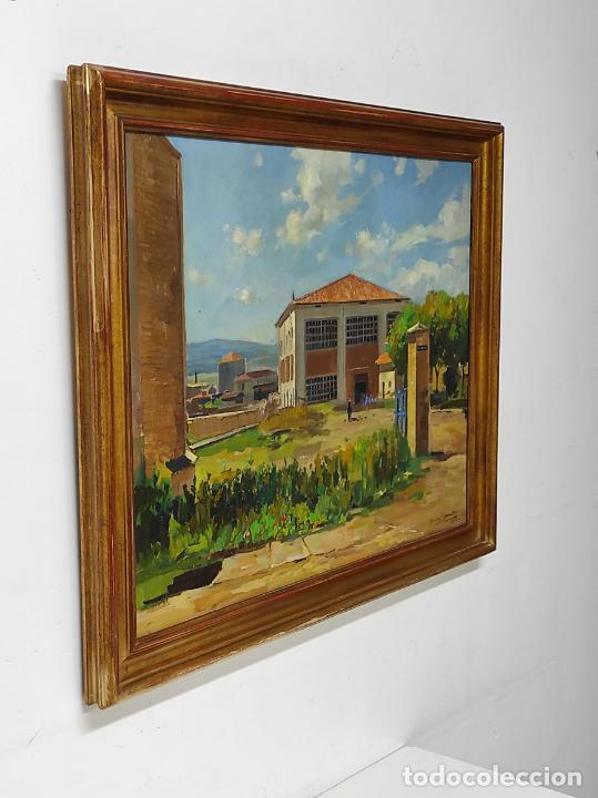 Arte: Óleo sobre Tela - Ramón Barnadas (Olot 1909 - Girona 1981) - Fabrica Hi.Vi.Sa, Vic - Año 1950 - Foto 6 - 270516318