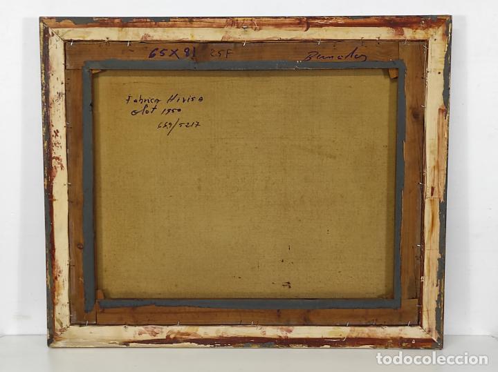 Arte: Óleo sobre Tela - Ramón Barnadas (Olot 1909 - Girona 1981) - Fabrica Hi.Vi.Sa, Vic - Año 1950 - Foto 8 - 270516318