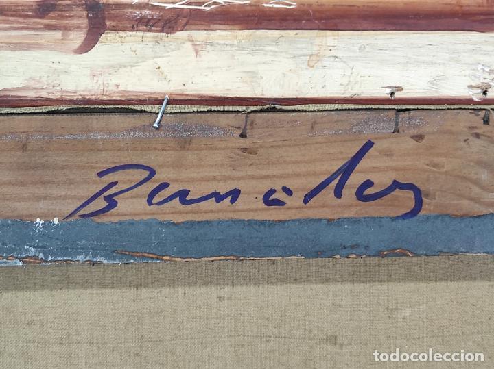 Arte: Óleo sobre Tela - Ramón Barnadas (Olot 1909 - Girona 1981) - Fabrica Hi.Vi.Sa, Vic - Año 1950 - Foto 10 - 270516318
