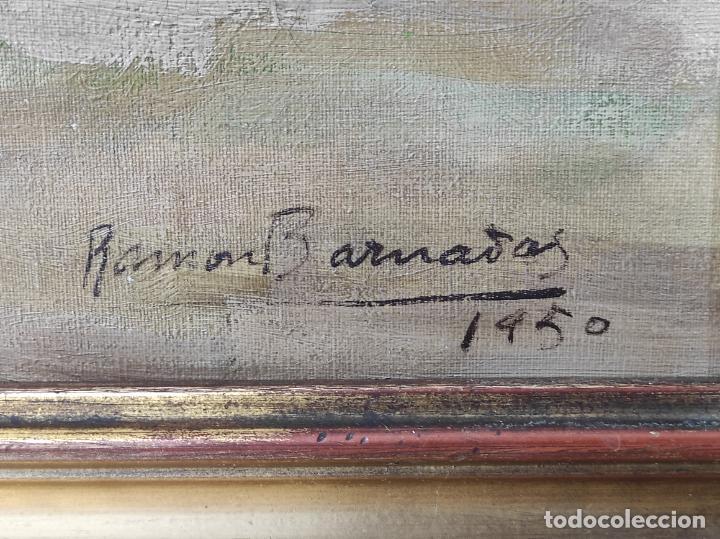 Arte: Óleo sobre Tela - Ramón Barnadas (Olot 1909 - Girona 1981) - Fabrica Hi.Vi.Sa, Vic - Año 1950 - Foto 11 - 270516318
