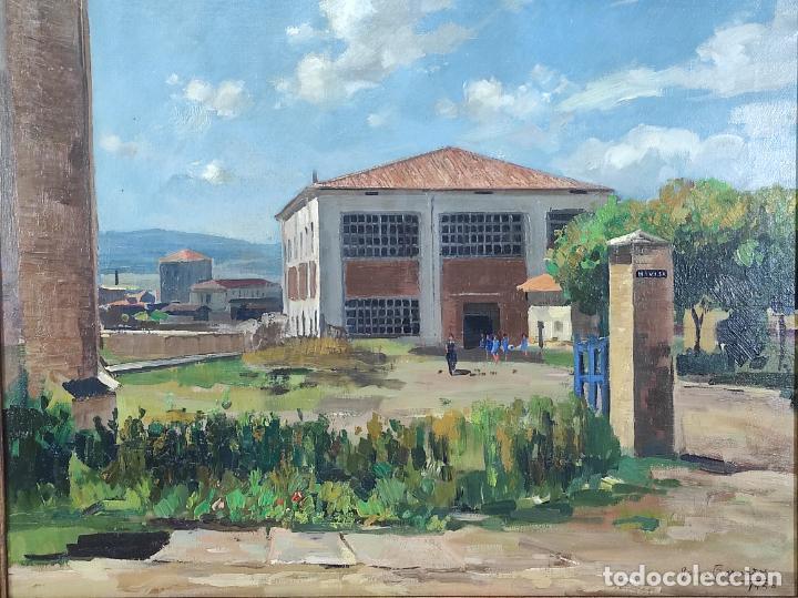 Arte: Óleo sobre Tela - Ramón Barnadas (Olot 1909 - Girona 1981) - Fabrica Hi.Vi.Sa, Vic - Año 1950 - Foto 12 - 270516318