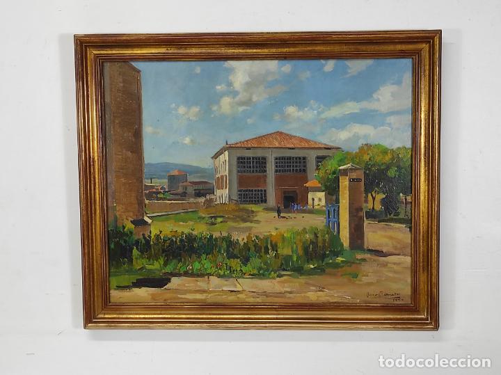 Arte: Óleo sobre Tela - Ramón Barnadas (Olot 1909 - Girona 1981) - Fabrica Hi.Vi.Sa, Vic - Año 1950 - Foto 13 - 270516318
