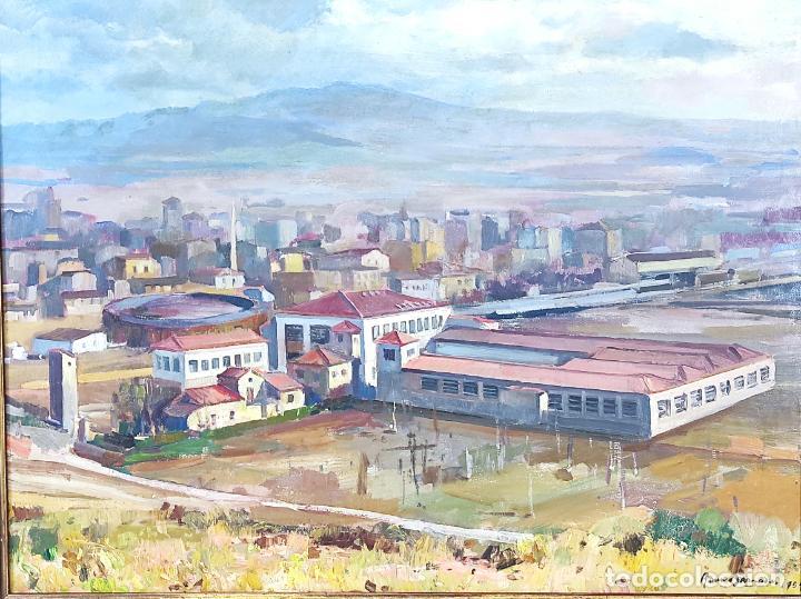 Arte: Óleo sobre Tela - Ramón Barnadas (Olot 1909 - Girona 1981) - Fabrica Hi.Vi.Sa, Vic - Año 1954 - Foto 2 - 270516438