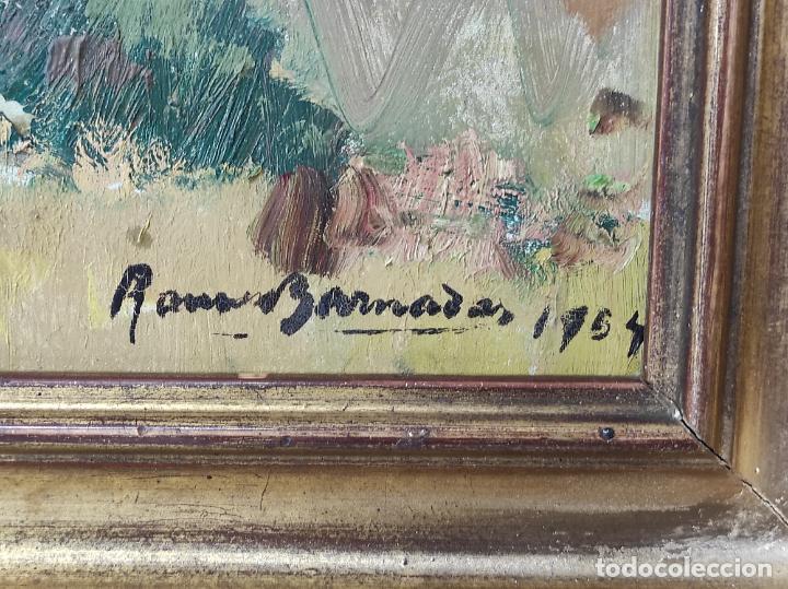 Arte: Óleo sobre Tela - Ramón Barnadas (Olot 1909 - Girona 1981) - Fabrica Hi.Vi.Sa, Vic - Año 1954 - Foto 3 - 270516438