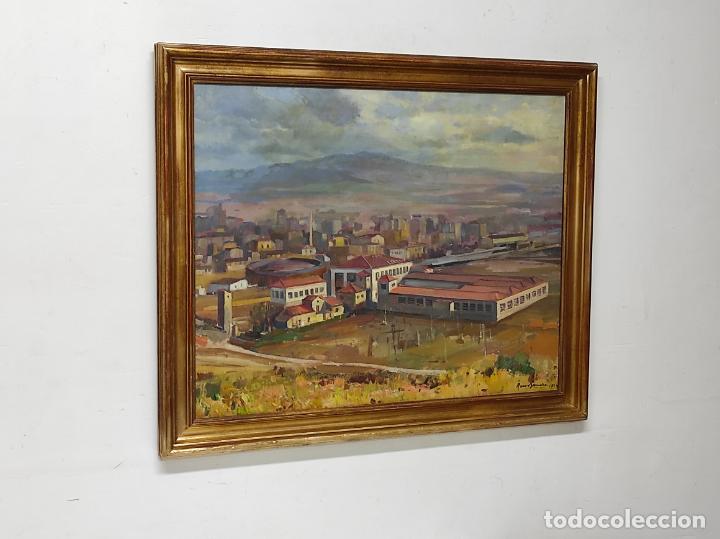 Arte: Óleo sobre Tela - Ramón Barnadas (Olot 1909 - Girona 1981) - Fabrica Hi.Vi.Sa, Vic - Año 1954 - Foto 4 - 270516438