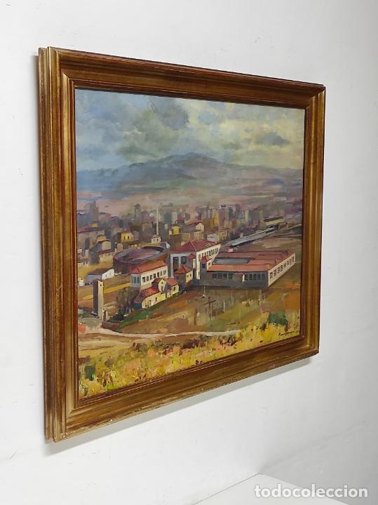 Arte: Óleo sobre Tela - Ramón Barnadas (Olot 1909 - Girona 1981) - Fabrica Hi.Vi.Sa, Vic - Año 1954 - Foto 5 - 270516438