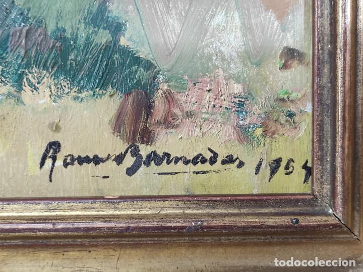 Arte: Óleo sobre Tela - Ramón Barnadas (Olot 1909 - Girona 1981) - Fabrica Hi.Vi.Sa, Vic - Año 1954 - Foto 10 - 270516438
