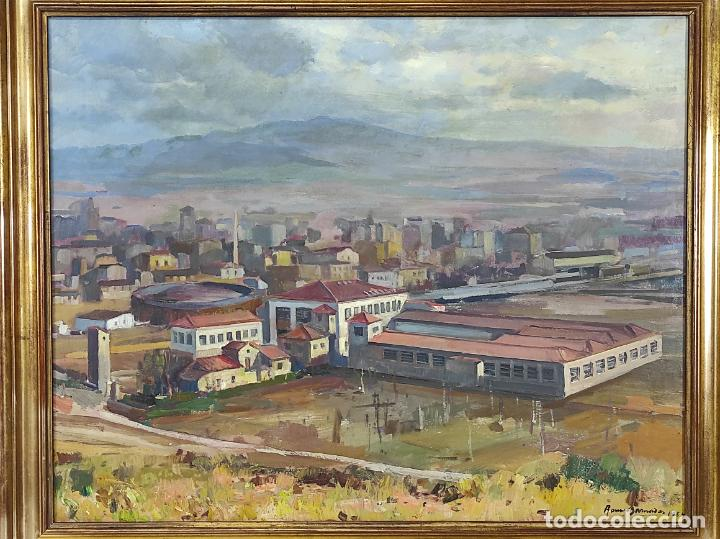 Arte: Óleo sobre Tela - Ramón Barnadas (Olot 1909 - Girona 1981) - Fabrica Hi.Vi.Sa, Vic - Año 1954 - Foto 11 - 270516438