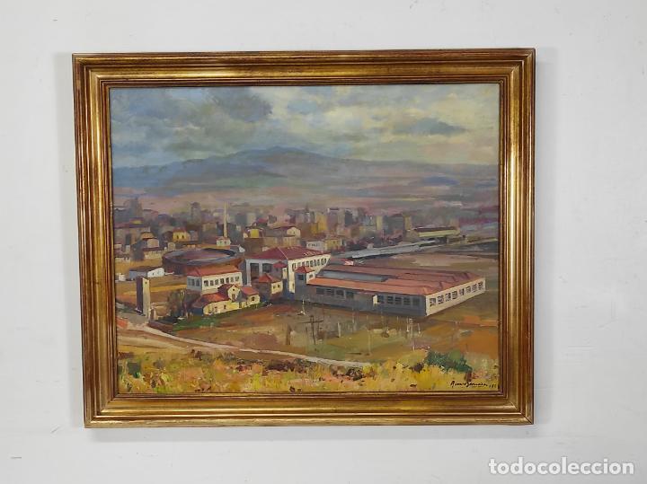 Arte: Óleo sobre Tela - Ramón Barnadas (Olot 1909 - Girona 1981) - Fabrica Hi.Vi.Sa, Vic - Año 1954 - Foto 12 - 270516438