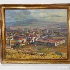 Arte: ÓLEO SOBRE TELA - RAMÓN BARNADAS (OLOT 1909 - GIRONA 1981) - FABRICA HI.VI.SA, VIC - AÑO 1954. Lote 270516438