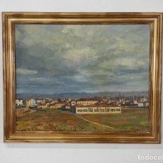 Arte: ÓLEO SOBRE TELA - RAMÓN BARNADAS (OLOT 1909 - GIRONA 1981) - FABRICA HI.VI.SA, VIC - AÑO 1954. Lote 270516538