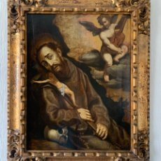 Arte: ESCUELA TOSCANA HACIA 1600. SAN FRANCISCO CONFORTADO POR UN ÁNGEL. Lote 270614668