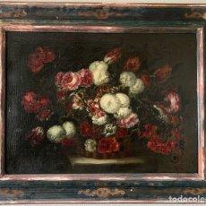 Arte: JUAN DE ARELLANO Y TALLER (1614-1676) CANASTA DE FLORES.. Lote 270624048