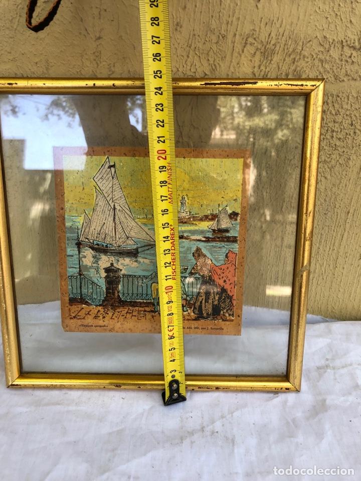 Arte: J.sarquella . Precioso dibujo o óleo sobre papel .bergantin año 1848 . Tiempos antiguos . Ver fotos - Foto 4 - 270918713