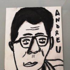 Arte: OBRA DE ARTE ORIGINAL PINTURA PASTEL SOBRE PAPEL STEVEN MANLEY ESTILO BASQUIAT RETRATO BUENAFUENTE. Lote 270918953