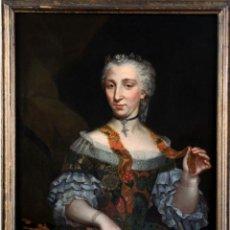 "Arte: ESCUELA FRANCESA DEL SIGLO XVIII "" RETRACTO DAMA "". Lote 271580248"