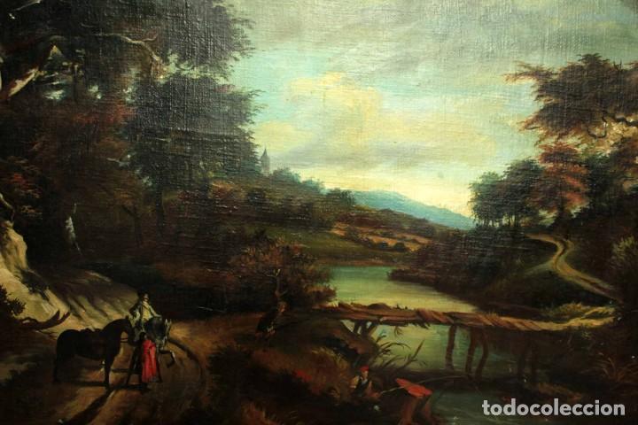 Arte: Escuela Holandesa s.XVIII-XIX, Paisaje, buen tamaño. Gran calidad Con marco 96x76cm - Foto 3 - 271619223
