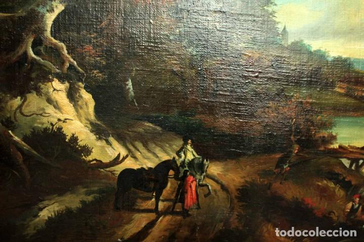 Arte: Escuela Holandesa s.XVIII-XIX, Paisaje, buen tamaño. Gran calidad Con marco 96x76cm - Foto 5 - 271619223