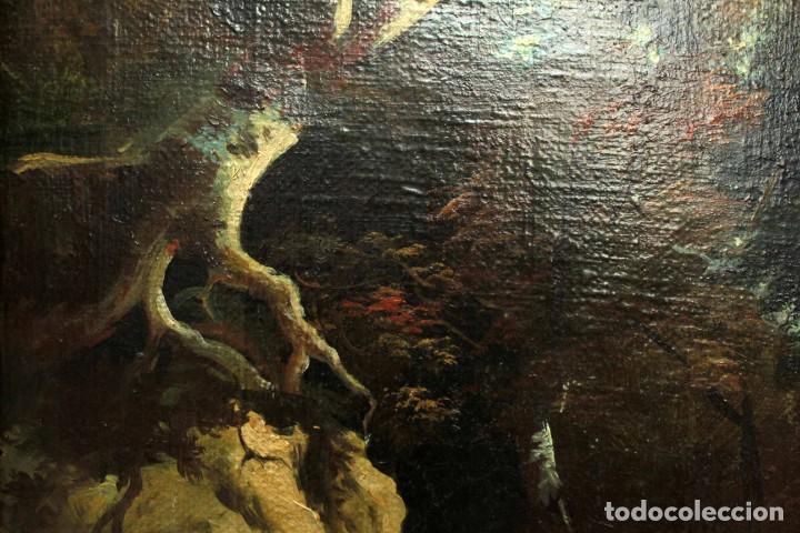Arte: Escuela Holandesa s.XVIII-XIX, Paisaje, buen tamaño. Gran calidad Con marco 96x76cm - Foto 9 - 271619223