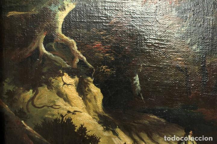 Arte: Escuela Holandesa s.XVIII-XIX, Paisaje, buen tamaño. Gran calidad Con marco 96x76cm - Foto 10 - 271619223