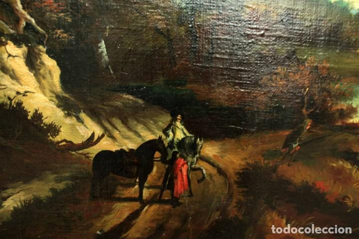 Arte: Escuela Holandesa s.XVIII-XIX, Paisaje, buen tamaño. Gran calidad Con marco 96x76cm - Foto 11 - 271619223