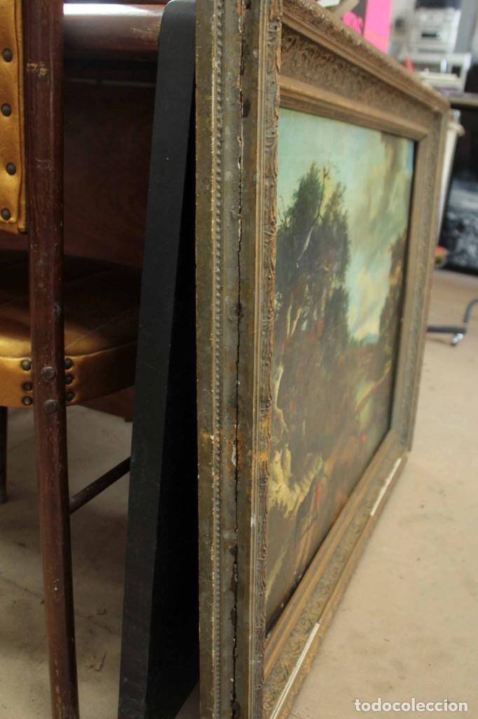 Arte: Escuela Holandesa s.XVIII-XIX, Paisaje, buen tamaño. Gran calidad Con marco 96x76cm - Foto 13 - 271619223
