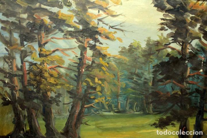 Arte: Emilio Prieto. Paisaje pintado al oleo sobre lienzo. Fechado 1959. Con marco 81x69cm - Foto 2 - 271623993