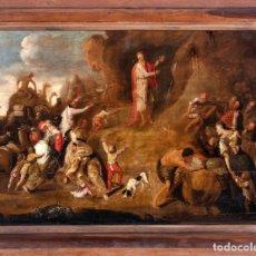 """Arte: ESCUELA HOLANDESA DEL SIGLO XVII """" MOISES EN LA ROCA """". Lote 271642243"""