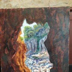 Arte: CALA DEL CRIT, COSTA BRAVA (GIRONA) ÓLEO SOBRE LIENZO FIRMADO (40*51CM). Lote 271828978
