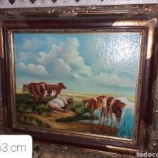Arte: CUADRO OLEO SOBRE TABLA VER FOTOS.... Lote 271943233