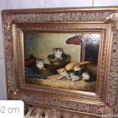 Arte: CUADRO OLEO SOBRE TABLA, VER FOTOS..... Lote 271943668