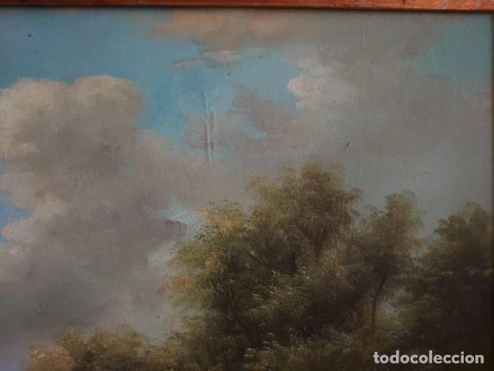 Arte: ÓLEO SOBRE LIENZO OVEJAS EN LA PRADERA - Foto 10 - 272009638