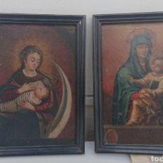 Arte: DOS ÓLEOS SOBRE COBRE, VIRGEN DE LA LECHE, ESCUELA FLAMENCA SIGLO XVIII, BUENA DEFINICIÓN, JOYAS!!!. Lote 272037538