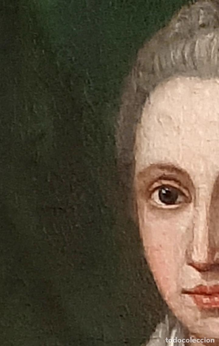Arte: ANTIGUO RETRATO DAMA NOBLE , OLEO SOBRE LIENZO , ORIGINAL SIGLO 18 . DE MUSEO - Foto 4 - 272478138