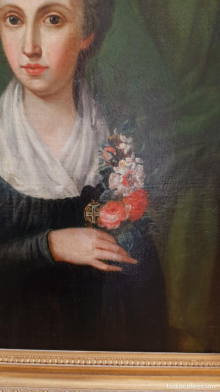 Arte: ANTIGUO RETRATO DAMA NOBLE , OLEO SOBRE LIENZO , ORIGINAL SIGLO 18 . DE MUSEO - Foto 6 - 272478138