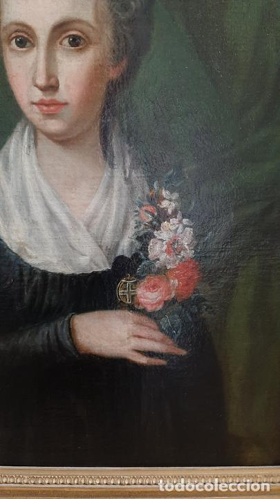Arte: ANTIGUO RETRATO DAMA NOBLE , OLEO SOBRE LIENZO , ORIGINAL SIGLO 18 . DE MUSEO - Foto 7 - 272478138