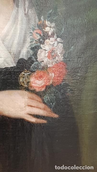 Arte: ANTIGUO RETRATO DAMA NOBLE , OLEO SOBRE LIENZO , ORIGINAL SIGLO 18 . DE MUSEO - Foto 14 - 272478138
