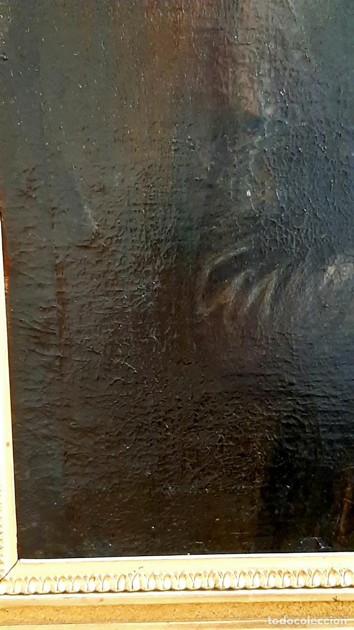 Arte: ANTIGUO RETRATO DAMA NOBLE , OLEO SOBRE LIENZO , ORIGINAL SIGLO 18 . DE MUSEO - Foto 16 - 272478138