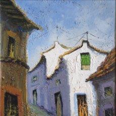 Arte: ESCUELA ESPAÑOLA - CALLEJUELAS.2 OLEOS/TABLA.FIRMADOS SANCHO.. Lote 272581223
