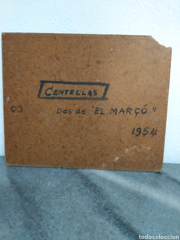 Arte: Pintura oleo sobre cartón ,escuela catalana ,titulado centellas desde el marzo 1954 - Foto 5 - 272703843