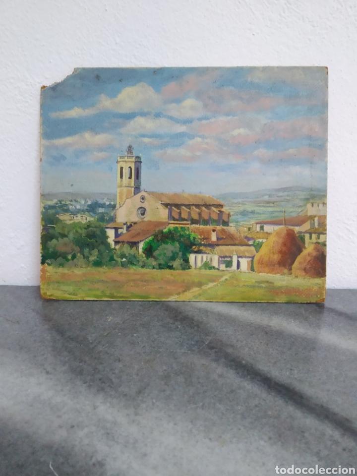 PINTURA OLEO SOBRE CARTÓN ,ESCUELA CATALANA ,TITULADO CENTELLAS DESDE EL MARZO 1954 (Arte - Pintura - Pintura al Óleo Contemporánea )